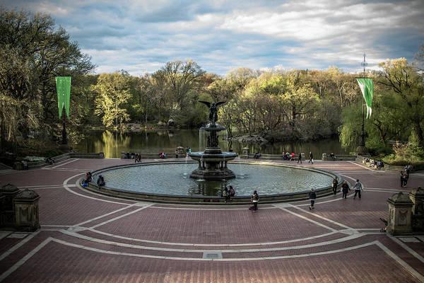 Photograph - Bethesda Fountain by Robert J Caputo