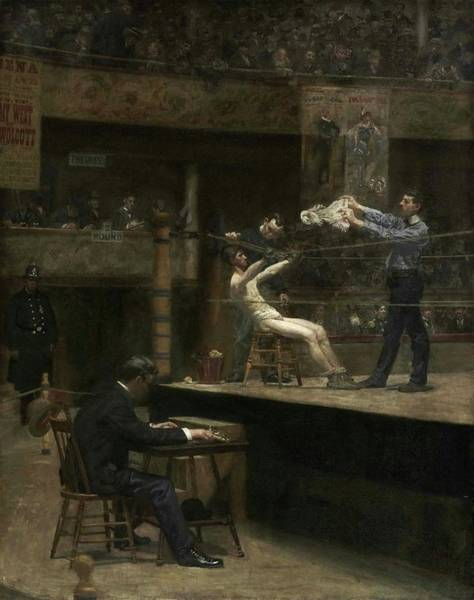 Painting - Between Rounds by Thomas Eakins