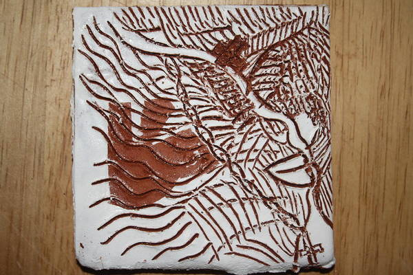Ceramic Art - Bliss - Tile by Gloria Ssali