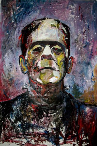 Experiment Painting - Boris Karloff Frankenstein Monster by Marcelo Neira