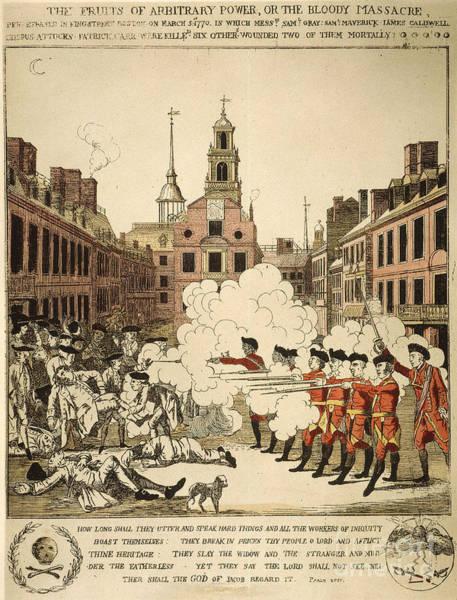 Gunfire Photograph - Boston Massacre, 1770 by Granger