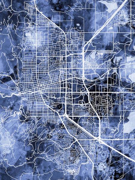 Boulder Colorado City Map Art Print