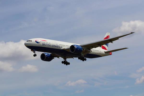 Wall Art - Photograph - British Airways Boeing 777 by David Pyatt