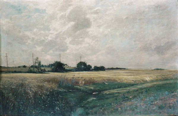 Barley Painting - Broad Acres by Edward Gay