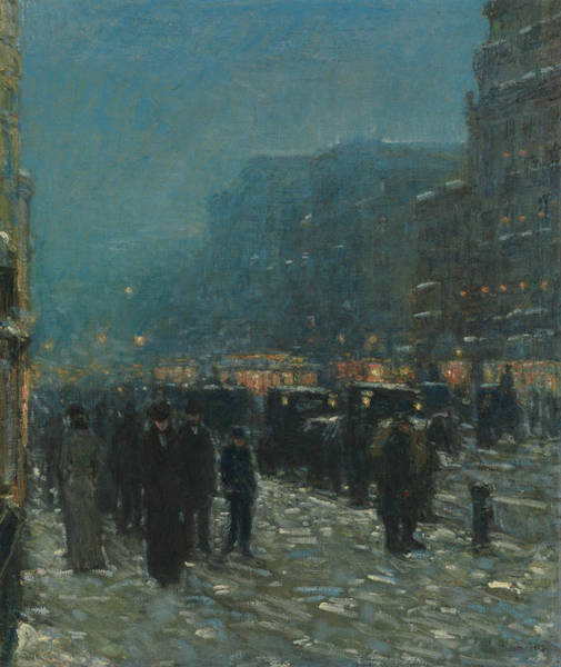 Painting - Broadway And 42nd Street by Childe Hassam
