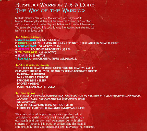 Bushido Painting - Bushido Warrior 7-5-3 Code, The Way Of The Warrior by Celestial Images