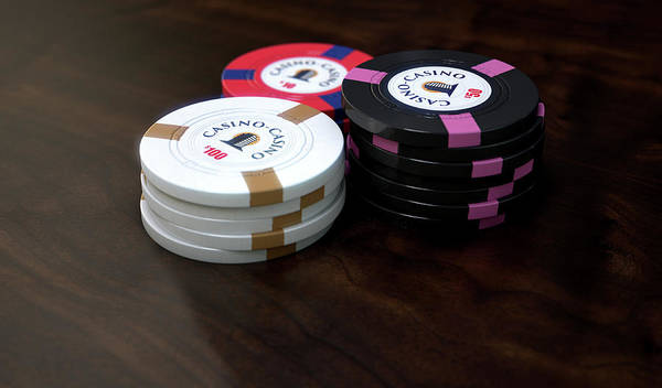 Wall Art - Digital Art - Casino Chips by Allan Swart
