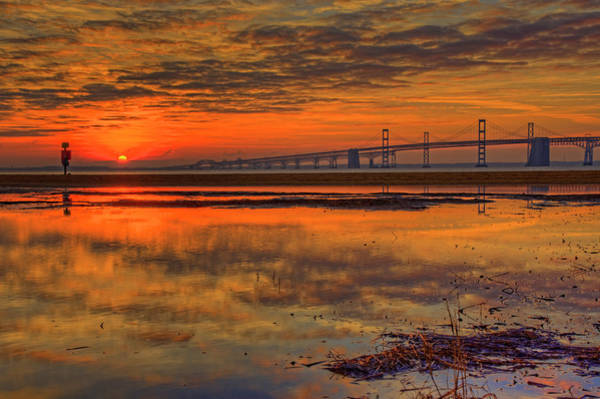 Wall Art - Photograph - Chesapeake Bay Bridge Sunrise by Craig Fildes