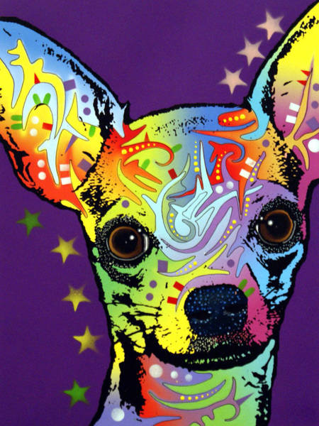 Wall Art - Painting - Chihuahua Warrior by Dean Russo Art
