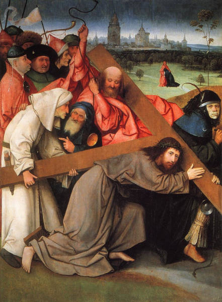 Redeemer Wall Art - Painting - Christ Carrying The Cross by Hieronymus Bosch