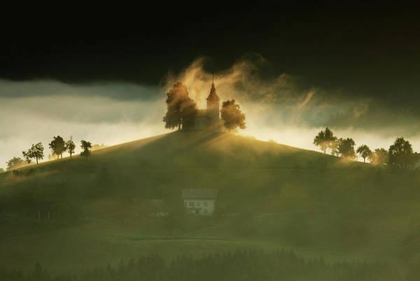 Wall Art - Photograph - Church Of Saint Thomas At Sunrise by Ian Middleton