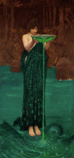 Wall Art - Painting - Circe Invidiosa by John William Waterhouse