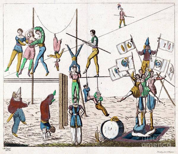 Photograph - Circus, Acrobats.  by Granger