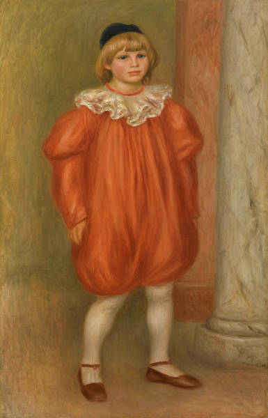 Child Actress Painting - Claude Renoir In Clown Costume by Pierre-Auguste Renoir