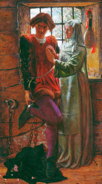 Moral Wall Art - Painting - Claudio And Isabella by William Holman Hunt