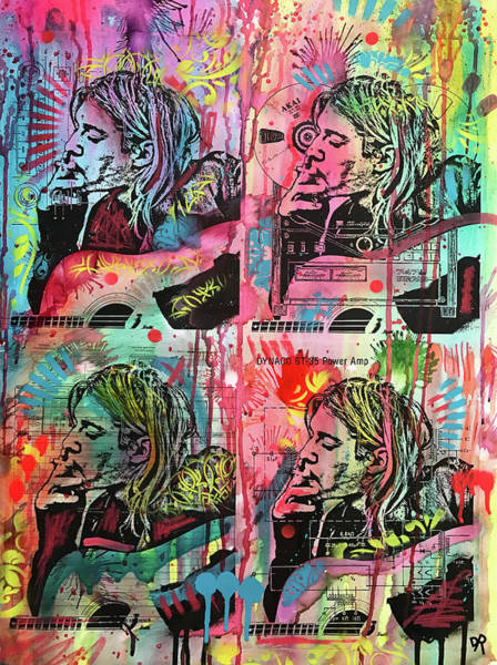 Wall Art - Painting - 4 Cobain by Dean Russo Art