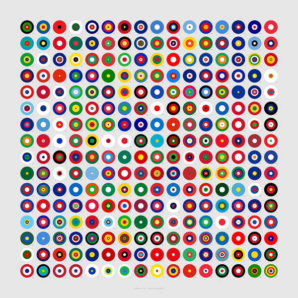 Territory Wall Art - Digital Art - Color Proportions In Country Flags  by Martin Krzywinski