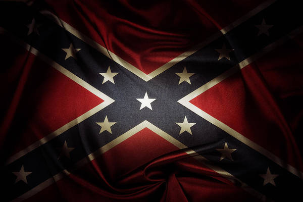 Wall Art - Photograph - Confederate Flag 11 by Les Cunliffe