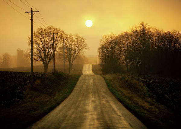 Electrical Field Wall Art - Photograph - Country Road by Todd Klassy
