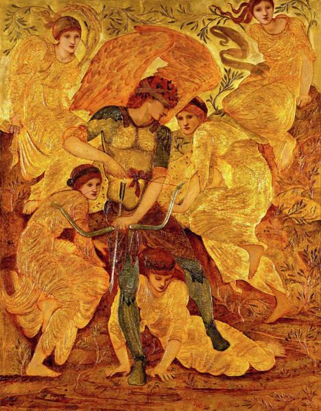 Wall Art - Painting - Cupid's Hunting Fields by Edward Burne-Jones