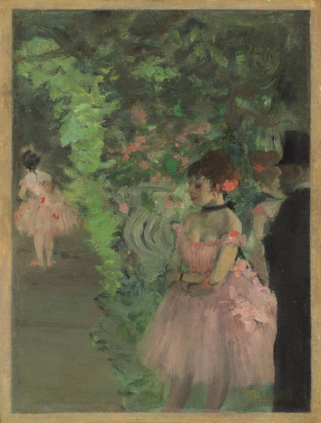 Painting - Dancers Backstage by Edgar Degas