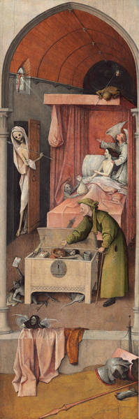 Wall Art - Painting - Death And The Miser by Hieronymus Bosch