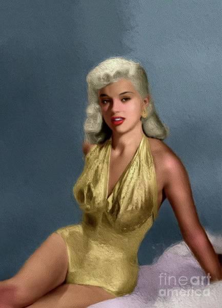 Wall Art - Painting - Diana Dors, Vintage Movie Star by John Springfield