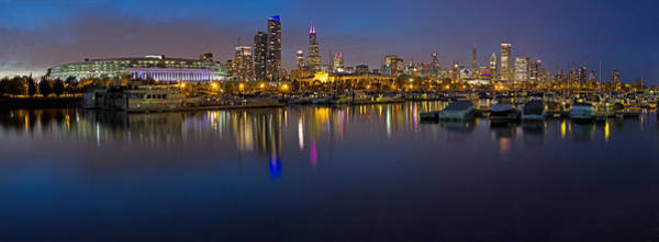 Two Harbors Photograph - Downtown Chicago From Burnham Harbor by Twenty Two North Photography