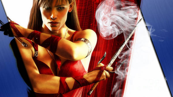 Super Hero Mixed Media - Elektra Collection by Marvin Blaine