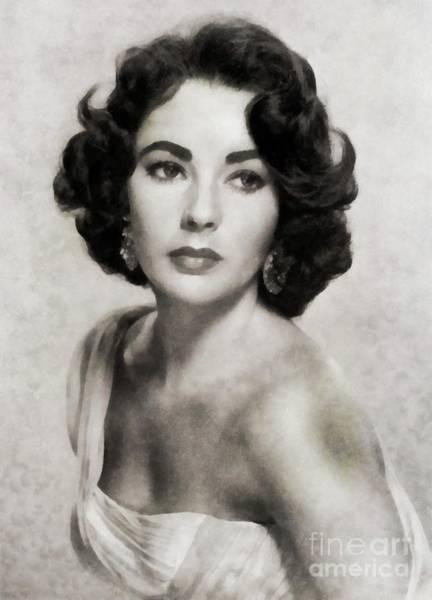 Elizabeth Taylor Painting - Elizabeth Taylor, Vintage Actress By Js by John Springfield