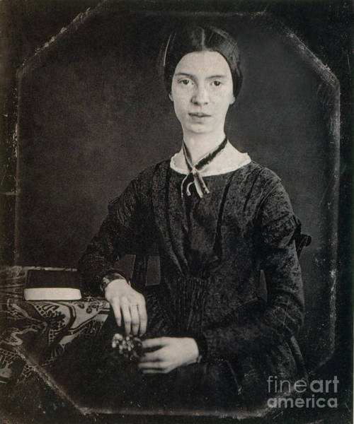 Daguerrotype Photograph - Emily Dickinson, American Poet by Photo Researchers