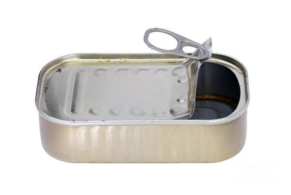 Tin Box Photograph - Empty Tin Can by Michal Boubin