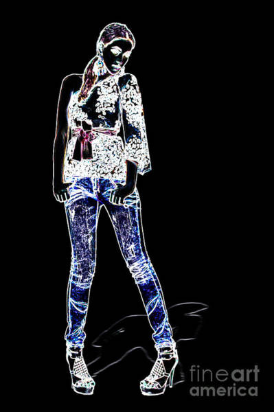 Dressed Up Mixed Media - Fashion Model by Milan Karadzic