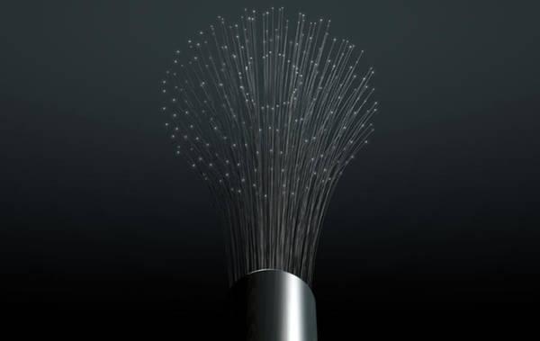 Fiber Optics Close Art Print