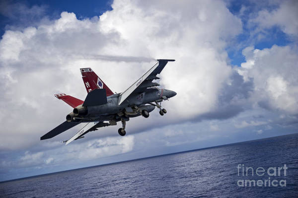Uss George Washington Wall Art - Painting - Fighter-jet by Celestial Images