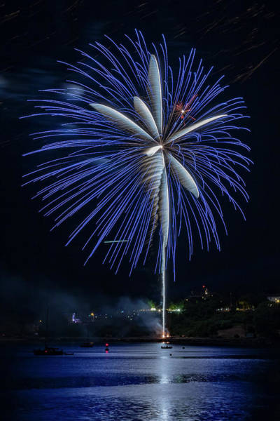 Photograph - Fireworks Over Portland, Maine by Colin Chase
