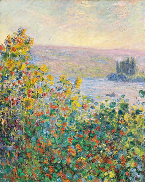 Painting - Flower Beds At Vetheuil by Celestial Images