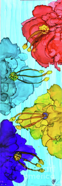 Painting - 4 Flower Power by Christine Dekkers