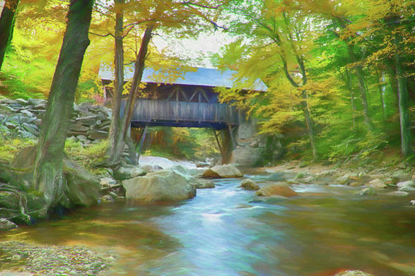 Pemigewasset River Wall Art - Photograph - Flume Gorge Covered Bridge by Jeff Folger