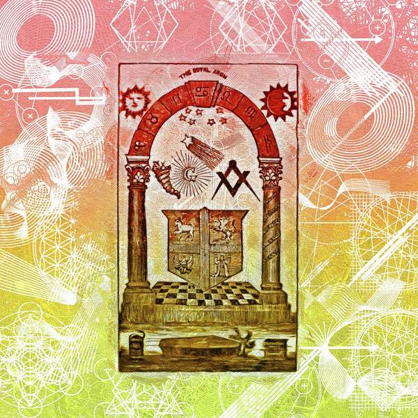 Wall Art - Painting - Freemason, Mason, Masonic Symbolism by Pierre Blanchard