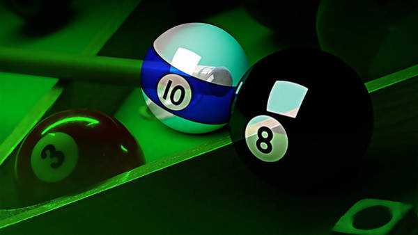 Pool Mixed Media - Game Room Billards by Marvin Blaine