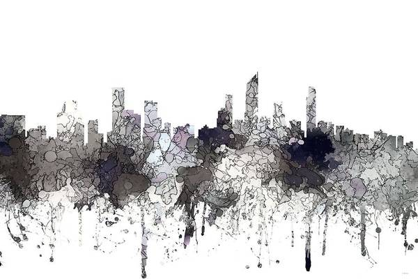Queensland Digital Art - Gold Coast Australia Skyline  by Marlene Watson