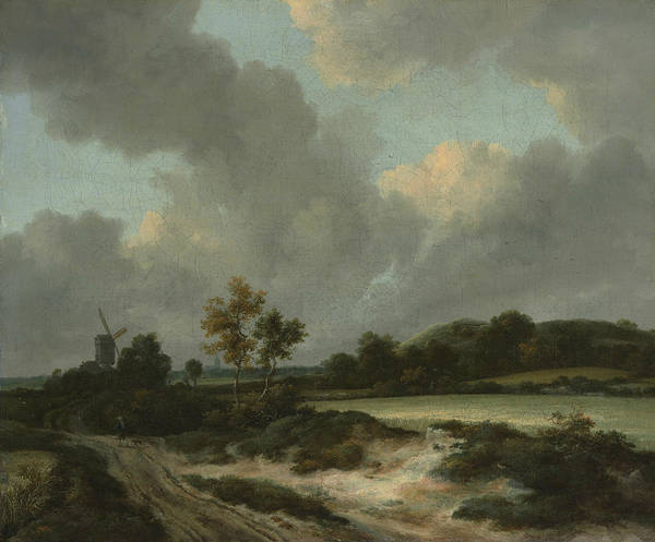 17th Century Wall Art - Painting - Grainfields by Jacob van Ruisdae