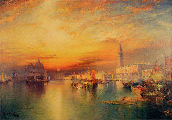 Wall Art - Painting - Grand Canal, Venice by Thomas Moran