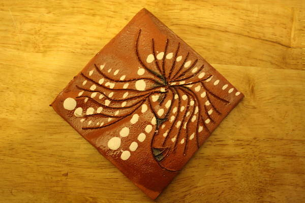 Ceramic Art - Hair Day - Tile by Gloria Ssali