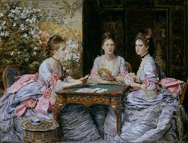 Painting - Hearts Are Trumps by John Everett Millais