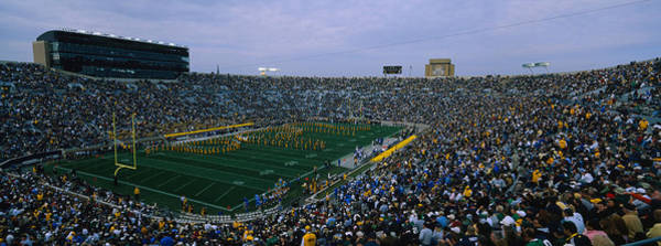 Playing Field Photograph - High Angle View Of A Football Stadium by Panoramic Images