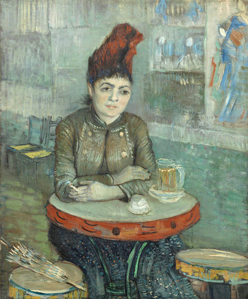 Parisian Cafe Painting - In The Cafe  Agostina Segatori In Le Tambourin by Vincent Van Gogh