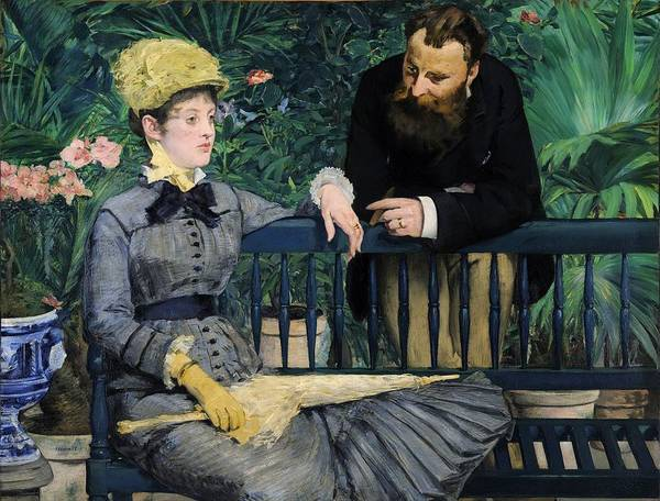 Painting - In The Conservatory by Edouard Manet
