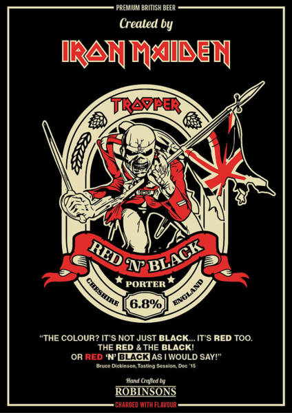 Maiden Wall Art - Digital Art - Iron Maiden by Geek N Rock